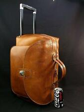 """Vintage Ghurka Box Grain Leather 19"""" Wheeled Duffle Carry-On Cabin Luggage Bag"""