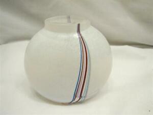 Signed Sm Rainbow Bertil Vallien Kosta Boda Art Glass Bud Vase