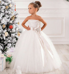 NEW Communion Party Prom Princess Pageant Bridesmaid Wedding Flower Girl DressAA