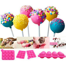 Cake Cookie Chocolate Silicone Lollipop Pop Mold Mould Baking Tray Stick PartyWB