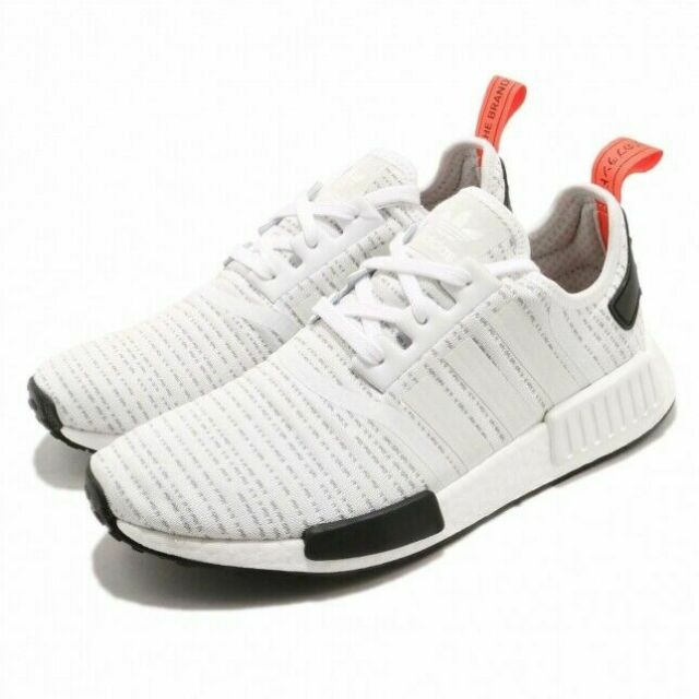 newest 3b245 e54c2 Men's Adidas NMD R1 BB9572 White/Red/Black Primeknit SZ 7-13 DS Boost USA PK