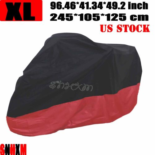 XL Black Waterproof Motorcycle Cover For Yamaha YZF R1 R6 R6S Ninja ZX 6R 7R 9R