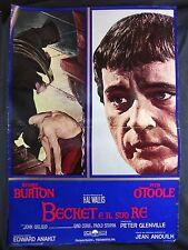 LOCANDINA CINEMA - BECKET E IL SUO RE - RICHARD BURTON - 1964 - STORICO