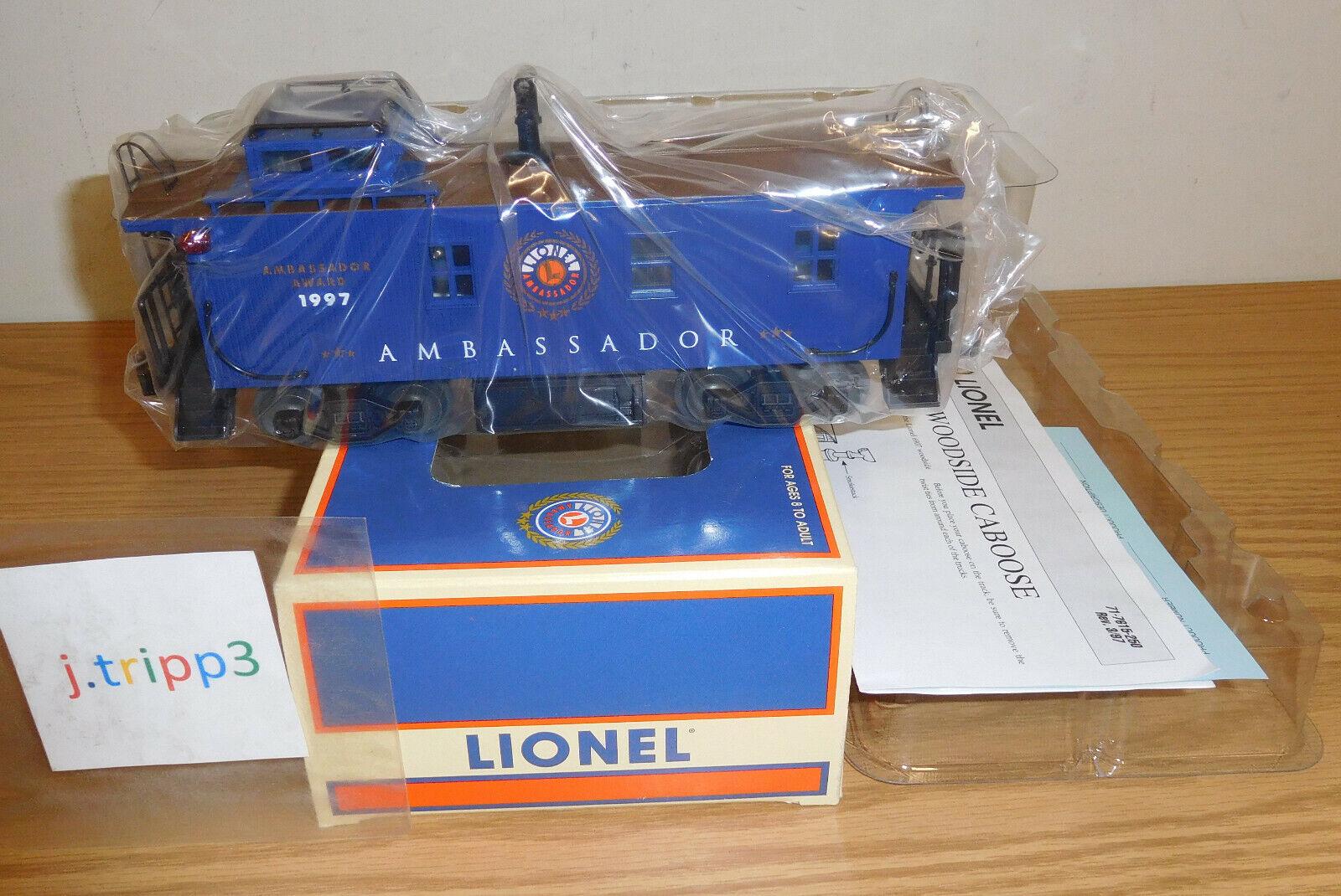 LIONEL TRAINS 6-19957 AMBASSADOR AWARD 1997 WOODSIDE STANDARD O CABOOSE BRONZE