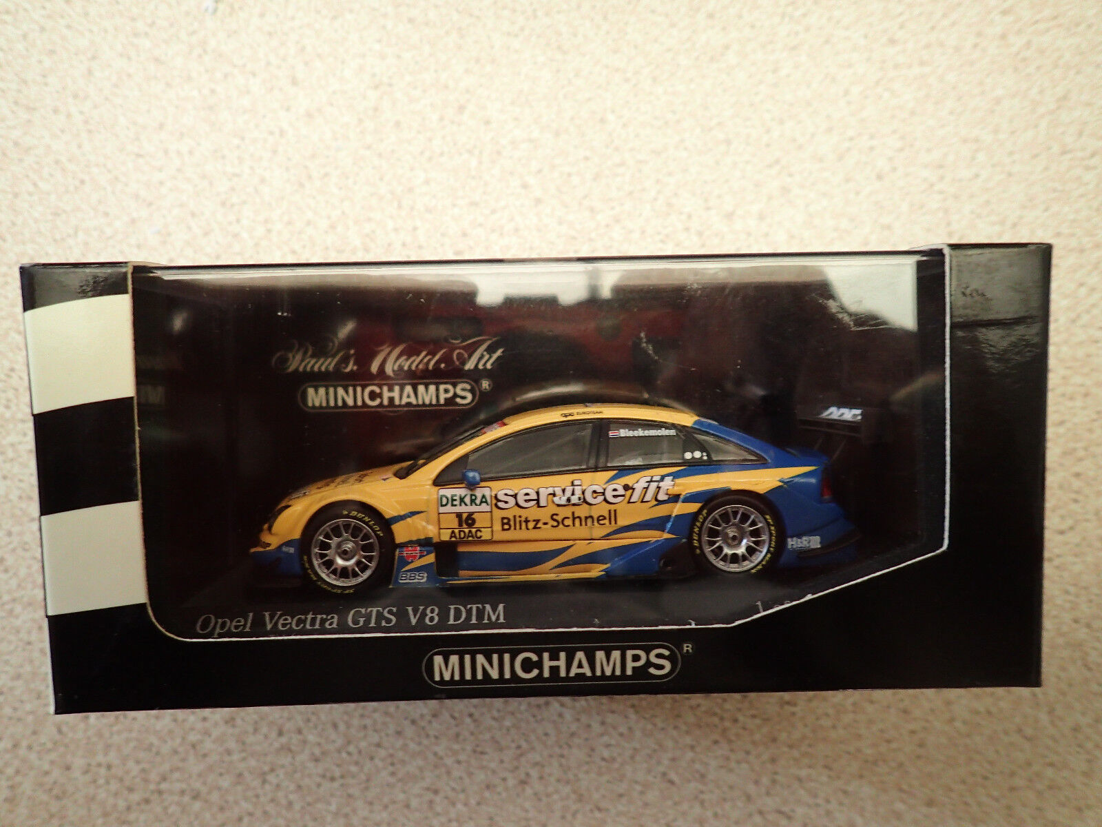 Ltd Edn Minichamps 1 43 400 044416 Opel Vectra GTS V8 DTM 2004 OPC Euredeam