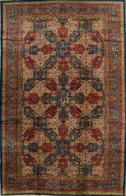 Antique Vegetable Dye Animal Pictorial Palace 12x20 Agra Taj Mahal Oriental Rug For Sale Online