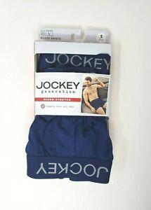 NEW Men/'s Small 28-30 Jockey 3-Pk Cotton Stretch Boxer Briefs Active Wicking