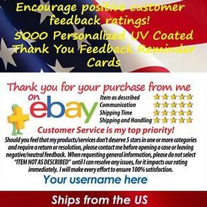 5000 Uv Gloss Ebay Custom Printed Seller Id Thank You Business Cards Free Ship Ebay