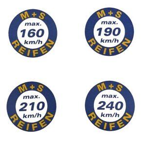 Geschwindigkeitsaufkleber Vmax 160-190-210-240 Km/h Auto & Motorrad: Teile