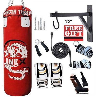 Brioso 3 Ft 12 Pz Formazione Boxe Borsa Palestra Fitness E Corpo Tonificante Con Accessori- Sangue Nutriente E Regolazione Dello Spirito