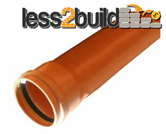 110mm Underground 6m Length Pipe Drain Drainage Single Socket Per Length x 1