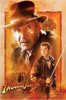 Indiana Jones Kingdom Crystal Skull Indy Mutt Sword 24x36 Movie Poster Labeouf