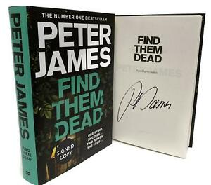 Signed-Book-Find-Them-Dead-by-Peter-James-First-Edition-1st-Print