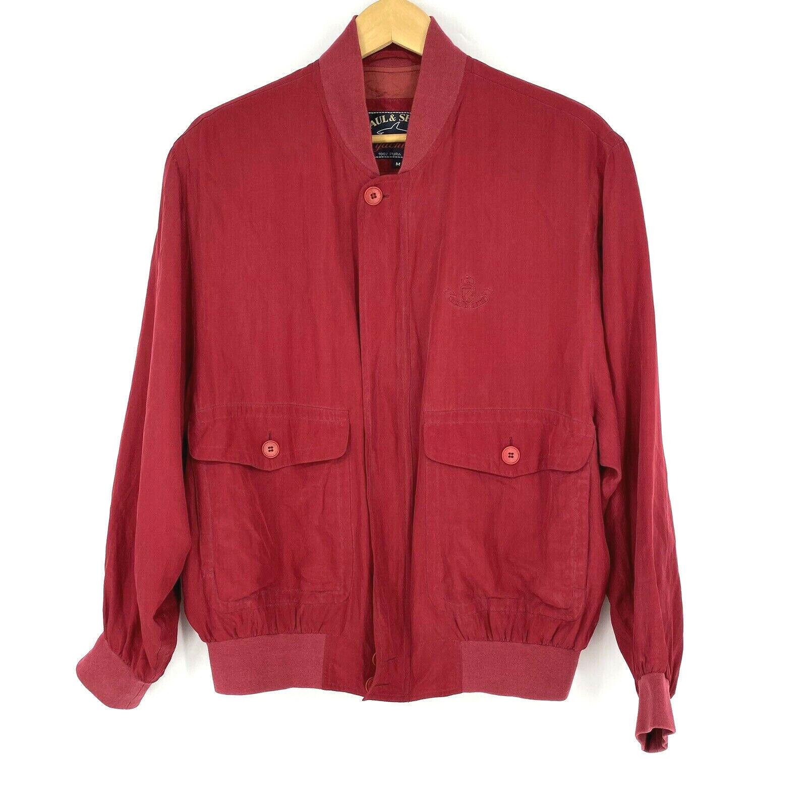 Paul Shark Yachting Jacket Size Medium Mens Red S… - image 1