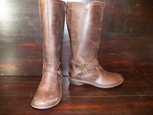 Image is loading New-Womens-UGG-Rosen-Leather-Espresso-Tall-Knee-