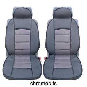 UNIVERSAL PREMIUM GREY COMFORT PADDED SEAT COVERS CAR VAN BUS TAXI
