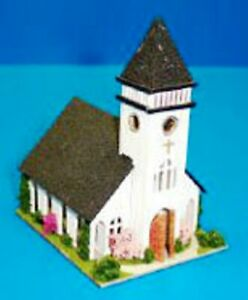 Dollhouse-Miniature-Country-Church-Kit-1-144-Scale