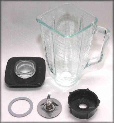 Pour Oster Blenpar 5 Tasse Carrée Top 6 pièces complet bocal en verre de remplacement Set