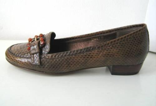 Schuh Cognac Brown Schlange Braun Shoes Schuhe Pur 41 Glamour Halb aTxwqHPw