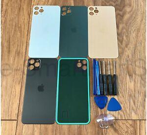 COPERCHIO-della-batteria-Vetro-ricambio-per-Apple-iPhone-11-MAX-BIG-PRO-Foro-della-macchina