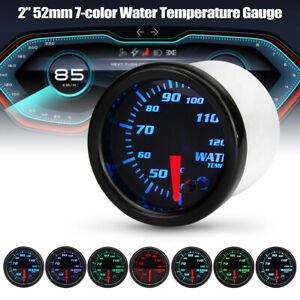 2-034-52mm-coche-7-color-de-LED-Digital-Indicador-De-Temperatura-Agua-Temp-Medidor-de-cara-negra