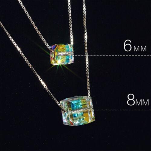 Charmant Femmes Magic Cube Cristal Chaîne Collier Pendentif Cadeau fine jewelrywtus