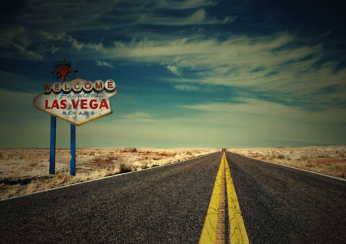 """ROAD TO LAS VEGAS NEW A4 CANVAS GICLEE ART PRINT POSTER 11.7/""""x8.3/"""""""