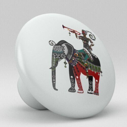 Exotic Indian Ceramic Knobs Pull Kitchen Bathroom Closet Drawer Cabinet 166