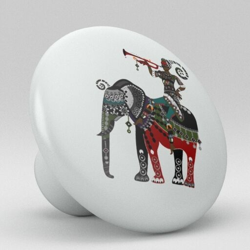 Exotic Indian Ceramic Knobs Pull Kitchen Bathroom Closet Drawer Cabinet 166