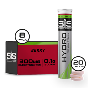 SiS Go Hydro, Hydration tablets with electrolytes - 8 Pack (Choose Flavour)