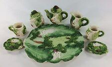Bunny Rabbit Miniature Tea Set Popular Imports 1996 10 piece Set