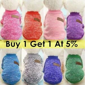 For-Small-Dogs-Coat-Cat-Pet-Clothes-Knitted-Puppy-Dog-Jumper-Sweater-XS-XXL-US