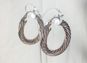 Silver-Pierced-Hoop-Earrings-ULTRAFINE-SILVER-MARKED-999-In-Original-Box
