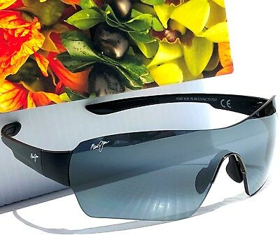 815d1d9fb01 NEW  Maui Jim NIGHT DIVE Black Shield Wrap w POLARIZED Grey Lens Sunglass  521-
