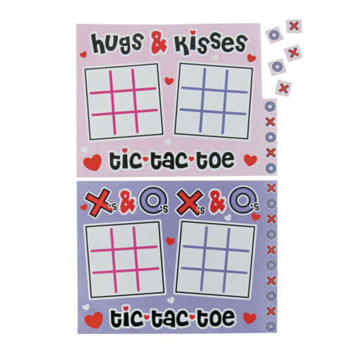24 Valentines Day Tic-Tac-Toe Games BIRTHDAY Party CARD EXCHANGE IDEA To From
