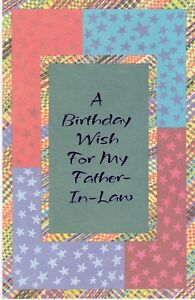 Image Is Loading Birthday Card With Envelope For Father In Law