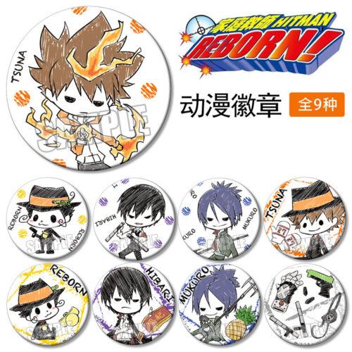 Itabag Badge Pin Button Holiday Gift Cosplay 58MM 9pcs Anime HITMAN REBORN