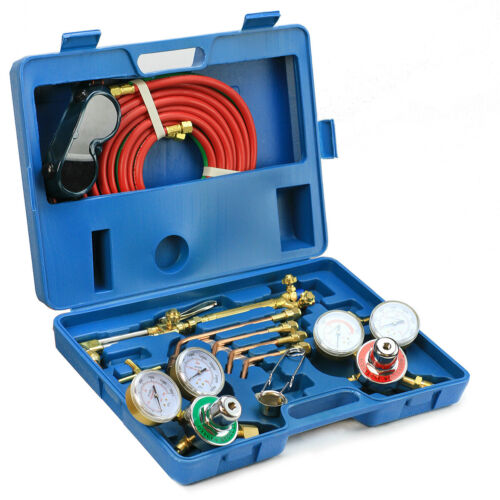 Welding Kit Victor Type Oxygen Acetylene Cutting Torch Burner w// 15/'  twin hose