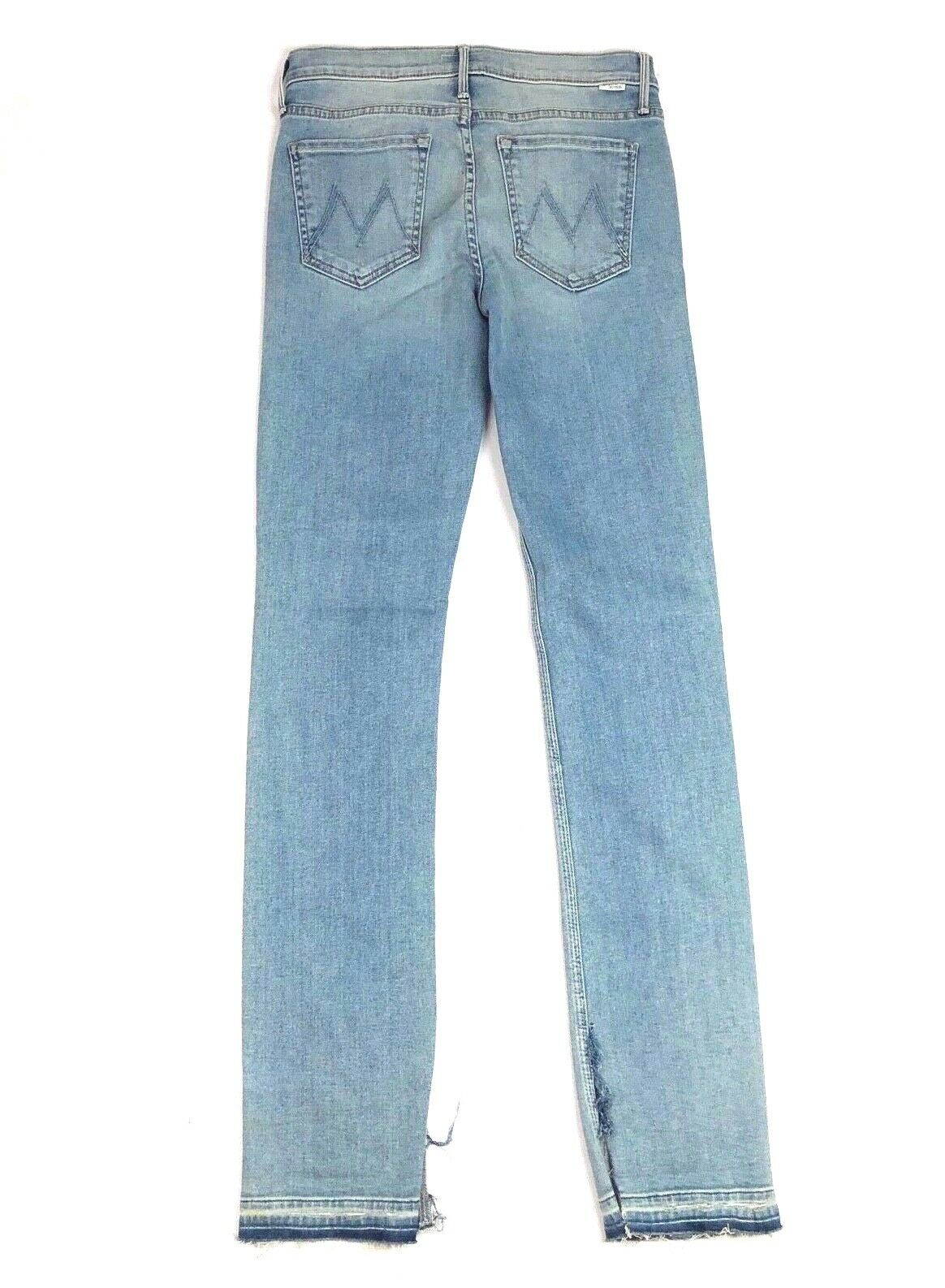 MOTHER Women's Denim RASCAL Slit Undone Hem Wild at Heart Jeans Pants