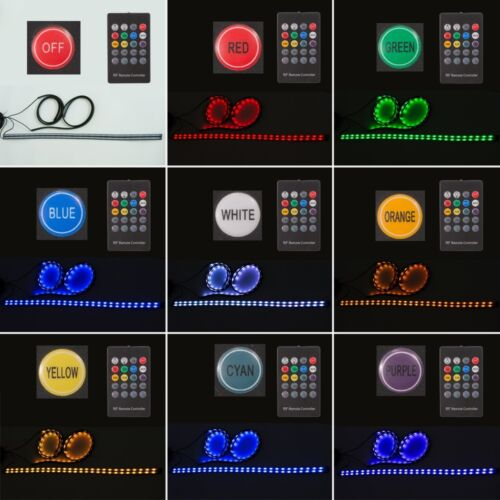 Colorful LED Strip Under Car Tube Underglow Glow System Underbody Neon Light Kit