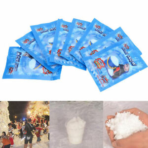 10-50-100Pack-Instant-Snow-Powder-Fluffy-Absorbant-Magic-Prop-Xmas-Decor-Kid-Toy