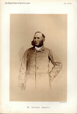 ANTHONY HAMOND - MASTER OF THE WEST NORFOLK FOXHOUNDS - SEPIA PORTRAIT (1879)
