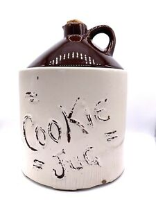 Vintage-Ceramic-Cookie-Jar-Cookie-Jug-with-real-cork-10-Tall