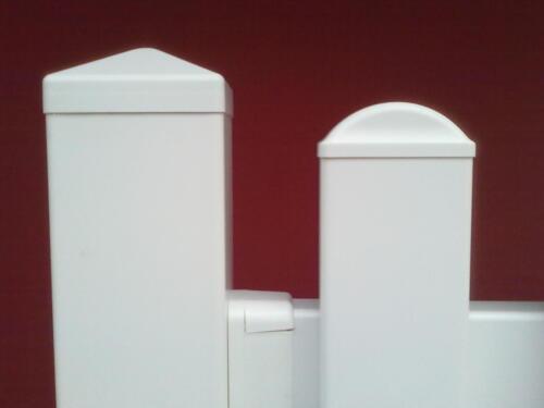 Endkappe flach gerade für Zaunlatten 85 x 25 mm weiß  PVC Kunststoff Lattenzaun