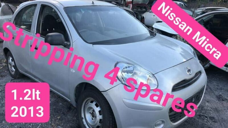 Nissan Micra 1.2lt 2013 stripping for spares