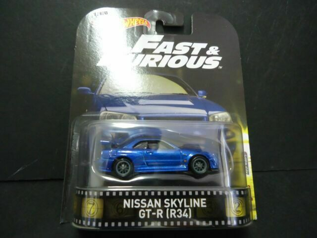 NISSAN SKYLINE GT-R R34 Fast e Furious Hot Wheels Die Cast 1//64 New Nuovo