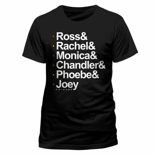 Friends Names Official NBC Comedy TV Series Black Mens T-shirt