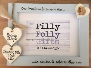 First Grandchild,New Grandparents 7x5/'/' Personalised Photo Frame by Filly Folly