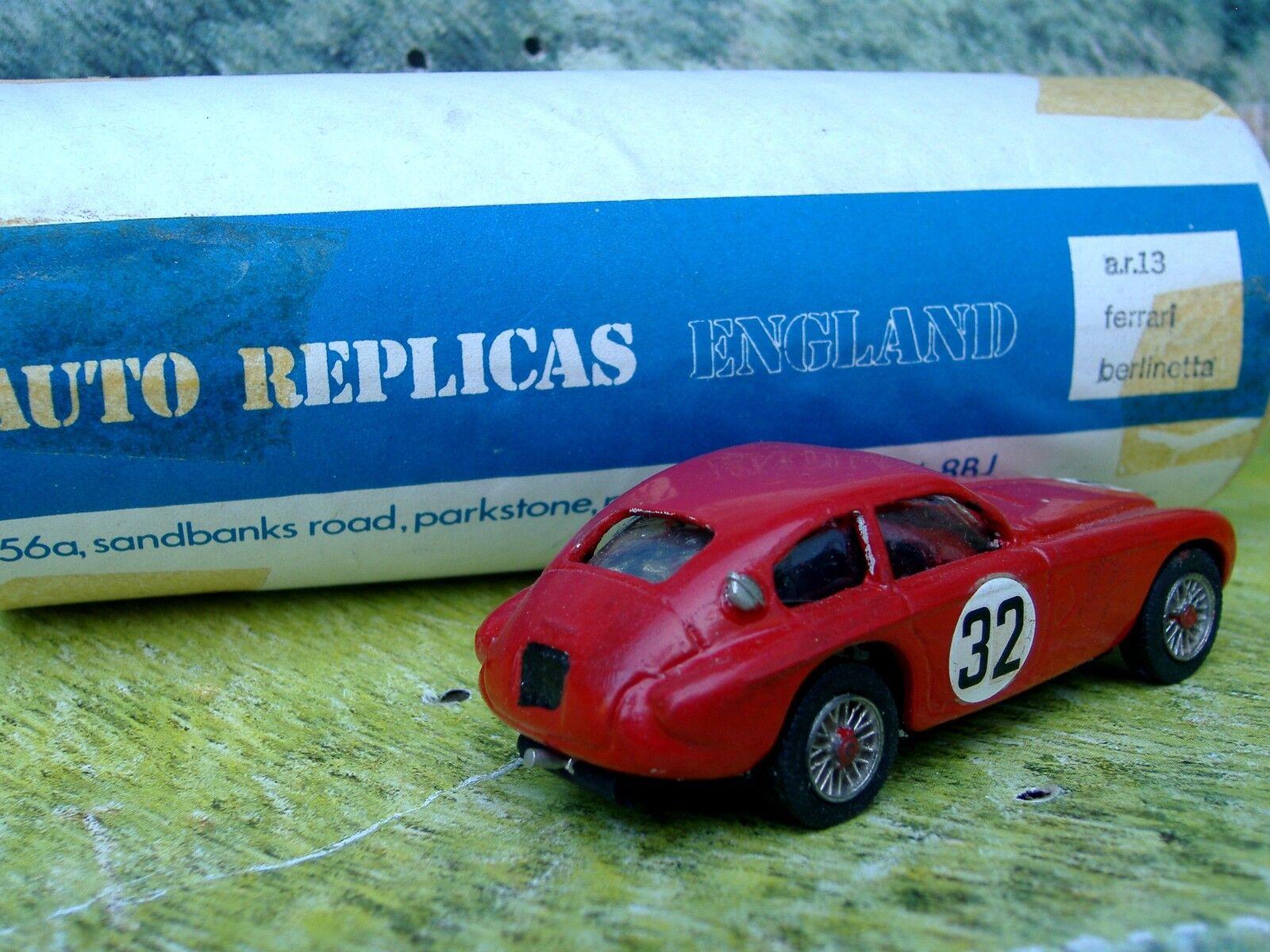 1 43 43 43 AUTO REPLICAS(England) Ferrari berlinett Handmade White Metal Model Car Kit ce5166