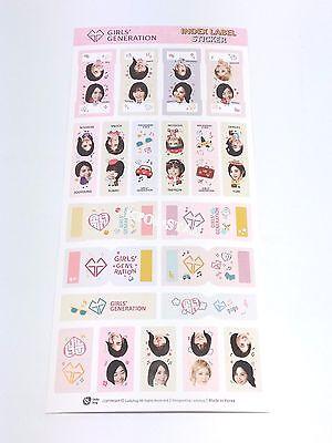 SNSD Girls Generation Index Label Sticker K-POP KPOP Korean Pop Character Note